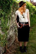 vintage accessories - Naf Naf skirt - vintage hat