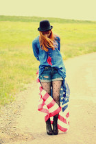 asos boots - Zara shirt - Levis shorts