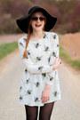 Romwe-shoes-honey-print-oasap-dress-romwe-hat-zerouv-sunglasses