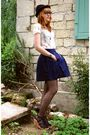 Blue-zara-skirt-white-zara-t-shirt-black-h-m-tights