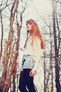 Chicwish-shirt-cross-handmade-vintage-shorts
