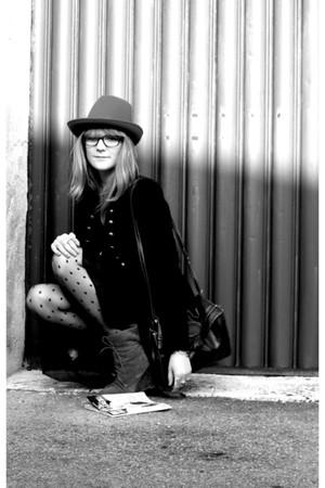 Zara coat - Zara boots - Zara hat