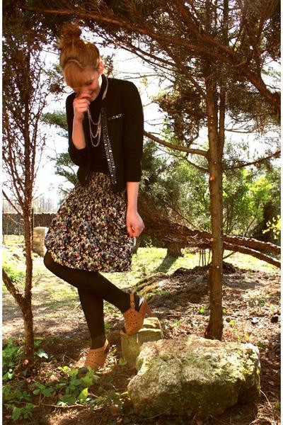 Cache Cache jacket - Naf Naf necklace - H&M skirt