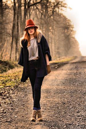 Pimkie boots - Pimkie jeans - Zara hat - H&M top