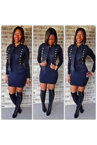 Military Boots uk Boots Black Dress Military