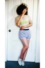 vintage hat - vintage blouse - aa bra - aa shorts - H&M belt - Rachel Comey shoe