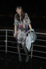 silk dress Zara - grey wedges Stella McCartney