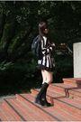 black wedges Jeffrey Campbell shoes - H&M Sweater dress