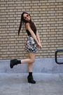black Urban Outfitters top - H&M skirt - black Jeffrey Campbell shoes