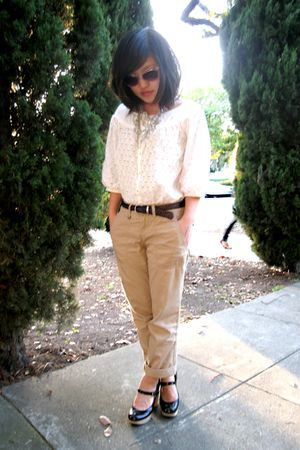 white f21 necklace - black Chloe shoes - white Urban Outfitters sunglasses