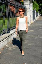 Zara heels - H&M bag - George Gina & Lucy sunglasses - Zara pants - Zara blouse