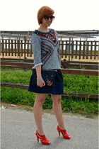 H&M sweatshirt - shampalove bag - George Gina and Lucy sunglasses - asos skirt