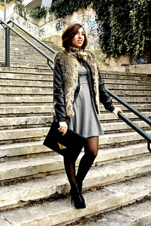 Bershka coat - H&M dress