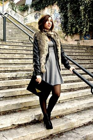Bershka coat - H&M dress