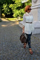 OASAP shirt - Louis Vuitton bag - H&M heels - Zara pants