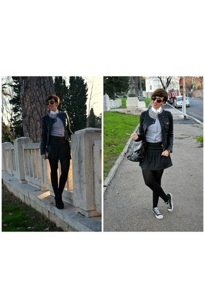 Brooksfield shirt - Jeffrey Campbell heels - Zara skirt - H&M glasses