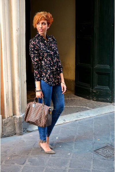 ZLZcom blouse - Pull and Bear jeans - Louis Vuitton bag - Zara heels