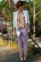 Zara blazer - vintage shirt - H&M pants - Zara heels