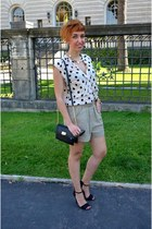 Zara shorts - Primark bag - George Gina & Lucy sunglasses - Zara heels