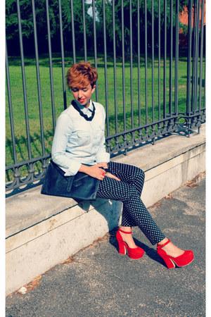 Stradivarius shirt - BonPrix pants - Spartoo heels