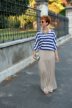 Bershka skirt - H&M bag - H&M necklace - Zara blouse