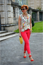 Zara heels - Bakarà bag - George Gina & Lucy sunglasses - Camaïeu pants