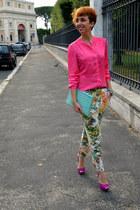 Zara pants - H&M shirt - Zara heels