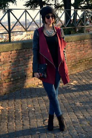 shampalove jacket - Zara boots - pull&bear jeans - shampalove bag