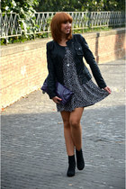 Zara boots - H&M dress - TANGRAM jacket - Miss Sixty bag