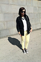 Zara t-shirt - H&M jacket - Stella McCartney bag - Zara pants