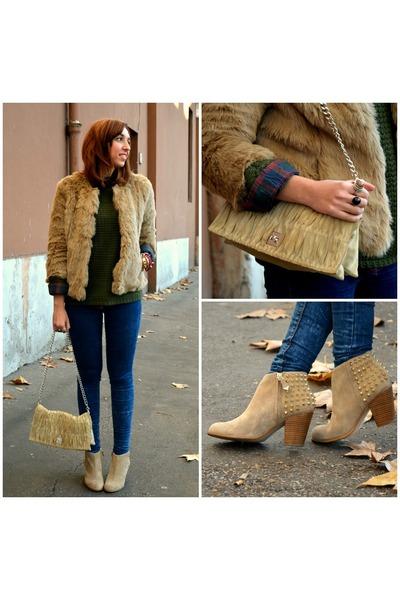 Zara boots - pull&bear jeans - Zara jacket - Zara sweater - pull&bear shirt