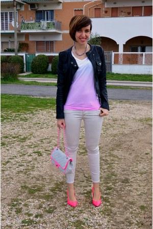 Baracco bag - TANGRAM jacket - be-unbranded t-shirt - giampaolo viozzi heels