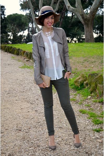 Zara pants - Pimkie jacket - romwe shirt - Zara heels