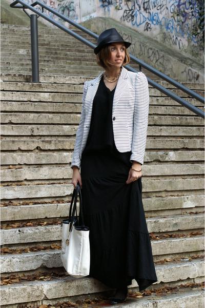 H&M blazer - H&M skirt - Zara flats
