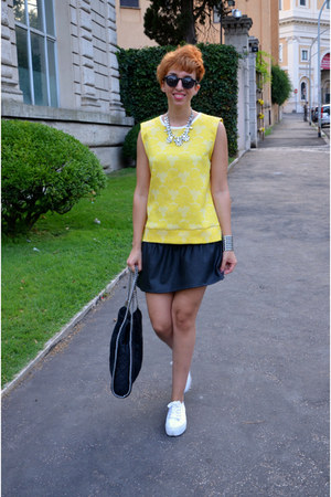 Zara skirt - Stella McCartney bag - Zara blouse