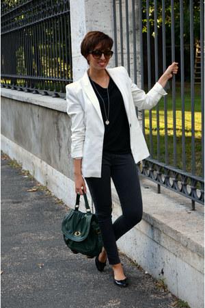 Camaïeu jeans - Zara blazer - Pimkie bag - Zara flats - Camaïeu blouse