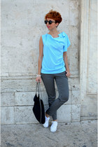 NaraCamicie blouse - Stella McCartney bag - Spartoo sneakers - Camaïeu pants