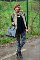 Zara bag - Pimkie boots - Bershka coat - Zara jeans - Stradivarius sweater