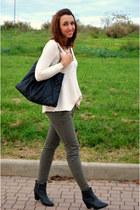 H&M boots - Zara sweater - Zara pants - H&M necklace - H&M ring