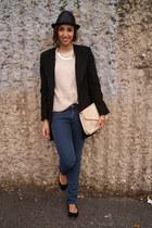 Zara coat - H&M jeans - Zara flats - H&M cardigan