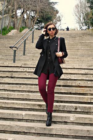 Zara coat - H&M shirt