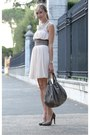 Peach-zara-dress-silver-list-belt