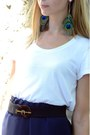 Navy-diy-skirt-heather-gray-paravidino-bag-white-h-m-t-shirt