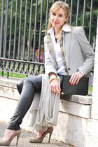 met jeans - Zara blazer - united colors of benetton shirt - Fendi purse