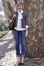Heather-gray-trussardi-cardigan-eggshell-mango-cardigan