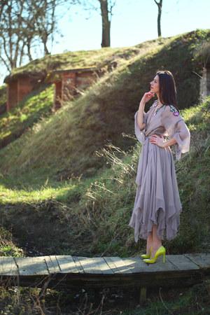 silk Rozalia Bot dress - leather Musette heels