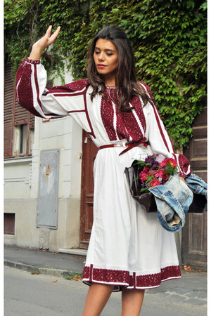 embroidered Romanian Label dress