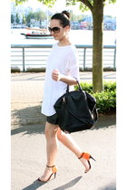 Alexander Wang bag - wilfred shirt - BCBG shorts - Zara heels