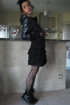 Roxy coat - H&M skirt - Dr Martens shoes