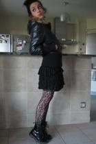 Roxy coat - H&M skirt - Dr Martens shoes